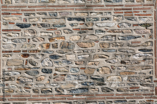 Láminas  Stone wall texture with two long parallel bricks