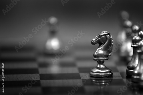 Chess Pieces on Board for Game and Strategy Tablou Canvas