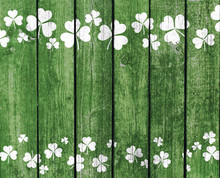 Green Planks With Shamrock Dec...