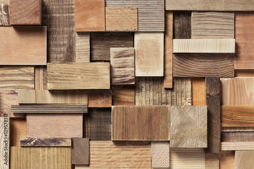 Obraz wood block background - fototapety do salonu