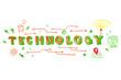 Technology word illustration