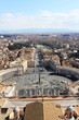 View of St Peter's Square from the roof of St Peter's Basilica, Vatican City, Rome, Italy