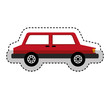 isometric car isolated icon vector illustration design