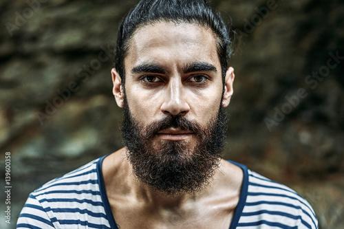 Vászonkép  Brutal handsome man with beard