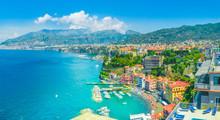 Aerial View Of  Sorrento City, Amalfi Coast, Italy