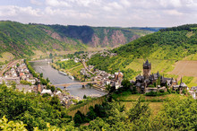 Panoramic Views To Cochem Town At Germany
