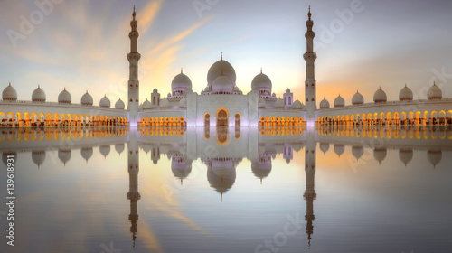 Spoed Foto op Canvas Abu Dhabi Sheikh Zayed Grand Mosque