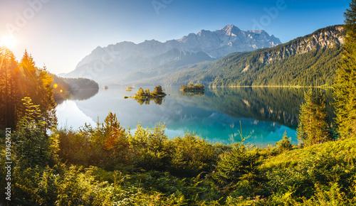 Obraz beautiful alpine lake - fototapety do salonu