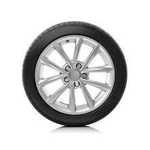 Car Wheel On White Background.
