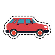 small red car icon image vector illustration design