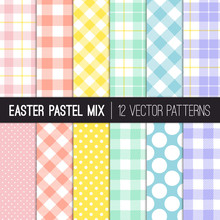 Easter Colors Polka Dots, Ging...