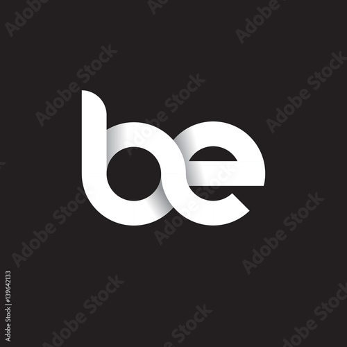 Fotografía  Initial lowercase letter be, linked circle rounded logo with shadow gradient, wh