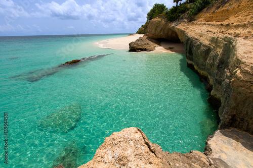 Photo rocky anguilla beach