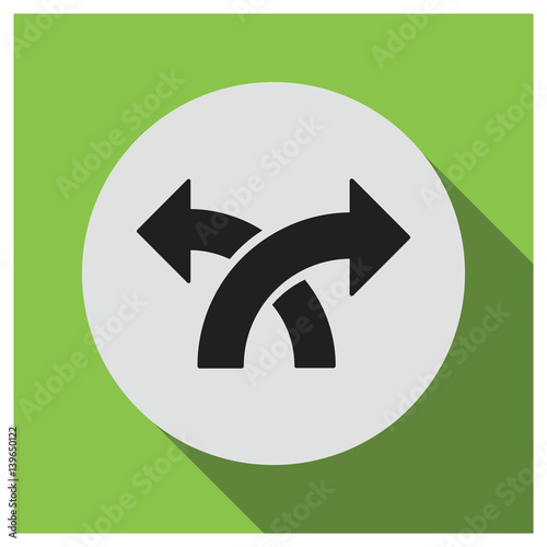 Fotografija  Two way direction vector icon