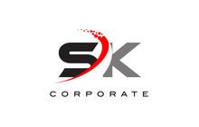 SK Modern Letter Logo Design W...