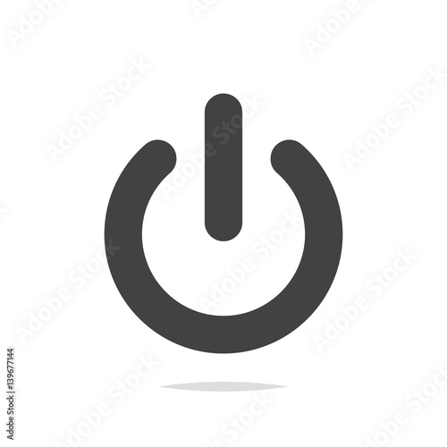 Canvastavla  Power off icon vector