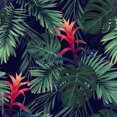 czerwone-kwiaty-guzmania-z-liscmi-palm-krolewskich