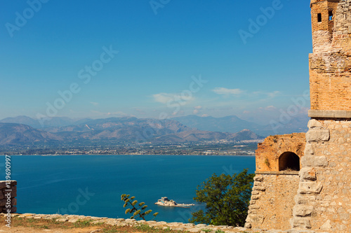 Dangerous doorway in the wall, the fortress of Palamidi, Nafplion