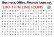 The variety of thin line icons for business, office, finance theme vector illustration. Editable Stroke. 64x64 Pixel Perfect. Built on grid.