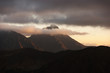 Great mountain peak at sunset. High Tatras. Slovakia.