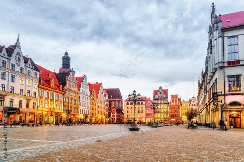 Obraz Wrocław, historyczne centrum miasta - fototapety do salonu