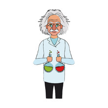 Albert Einstein Icon Image Vector Illustration Design