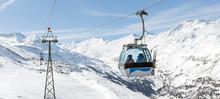 Gondola Lift Crossing The Valley At Hochgurgl Ski Area