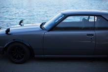 Grey Sports Coupe. Gray Race C...