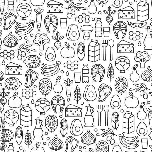 zestaw-ikon-minimalistycznej-zdrowej-zywnosci