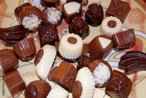 Foto op Aluminium Snoepjes chocolate candies