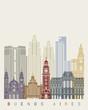 Buenos Aires V2 skyline poster