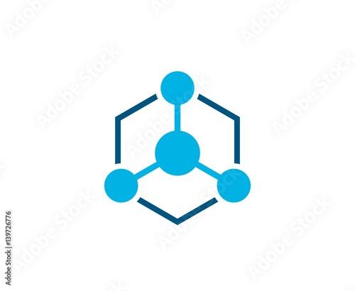 Fotomural Atom logo