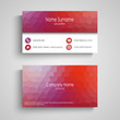 Business card with poly flow pattern