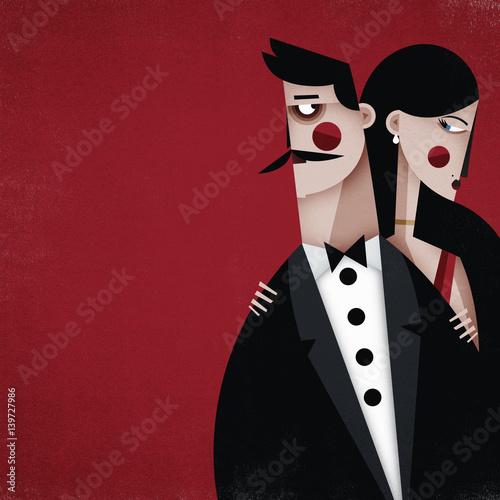 pareja rojo
