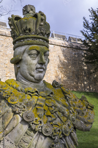 King George III Statue at Lincoln Castle Tableau sur Toile