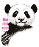 Panda holding an ice cream - 139734168