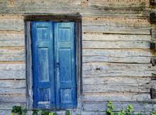 Wooden Blue Door SantaFe,NM