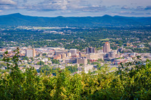 View Of Roanoke From Mill Mountain, In Roanoke, Virginia.