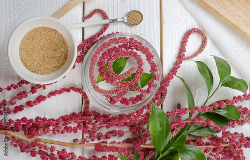amaranth on the table food, Wallpaper Mural