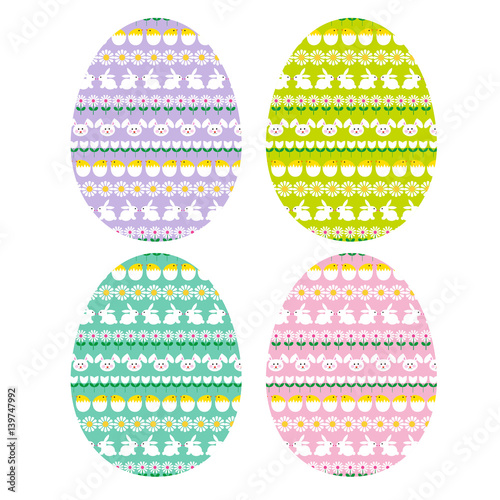 easter-eggs-with-bunny-stripe-patterns