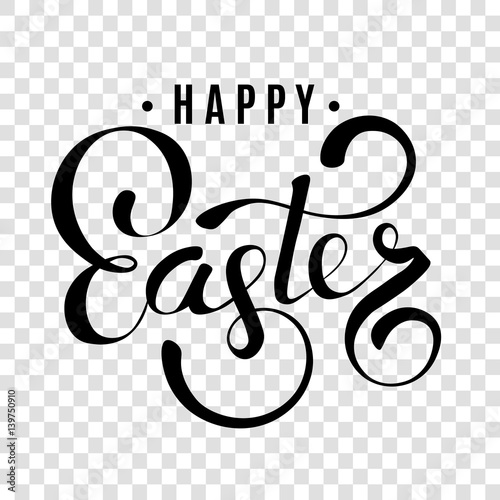 Happy easter hand lettering, happy easter handwritten template Canvas-taulu