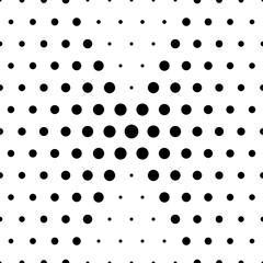 Fototapeta Abstract seamless pattern with circles. Modern black and white texture. Geometric background