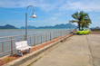 Small quiet quay on the shore of the Phang Nga bay