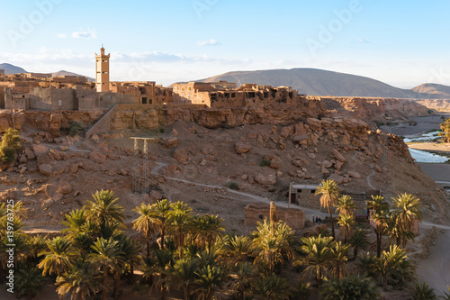Foto op Aluminium Grijze traf. Trit town near Tata, Oued Tissint, Morocco