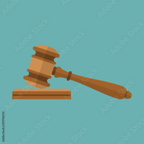 Cuadros en Lienzo Judge gavel icon