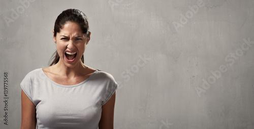 Angry woman Canvas Print