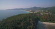 Karon and Kata Beaches in Phuket Aerial Approach Shot Over Headland