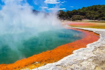 Fototapeta Rzeki i Jeziora The Champagne Pool at Wai-O-Tapu or Sacred Waters – Thermal Wonderland Rotorua New Zealand