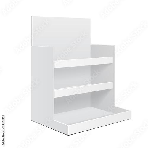 Display Cardboard Counter Shelf Holder Box POS POI Blank Empty Mockup Mock Up