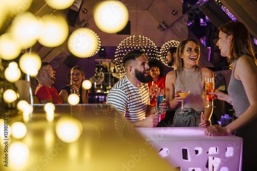 Friends In A Nightclub - 139808357
